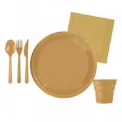 Gold (Altın Sarısı) Doğum Günü Konsepti Parti Malzemeleri ve Süsleri