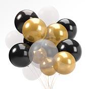 Metalik Parlak Helyumla Uçan Balonlar