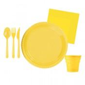 Sarı Doğum Günü Konsepti Parti Malzemeleri ve Süsleri