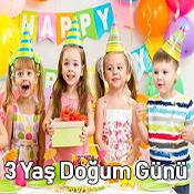 3 Yaş Doğum Günü Parti Malzemeleri