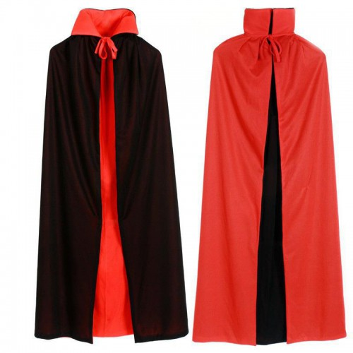 Siyah Pelerin Kırmızı Pelerin Yetişkin Cadılar Bayramı Halloween