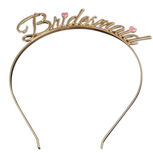 1 Ad Gold Bride To Be Taç, Bekarlığa Veda Bridesmaid Nedime Taçı