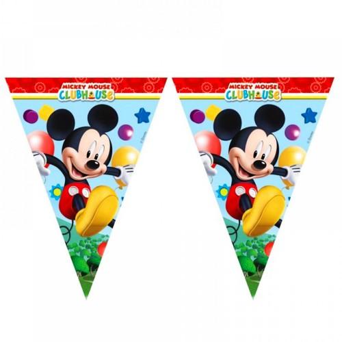 1 Ad İyi Ki Doğdun Mickey Mouse Konsept 1.9m Temalı Parti Flaması