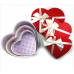 1 Ad Kalp Hediye Kutusu, Dekoratif Kurdeleli, Büyük Boy 29x29x12