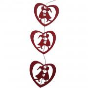 1 Ad Kırmızı Öpüşen Keçe, Sevgiliye Sürpriz Ev Oda Mekan Süsleme