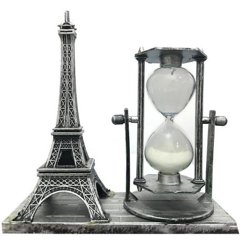 1 Ad Kum Rengi Dekoratif Eyfel Kulesi Biblosu Hediyelik Kum Saati
