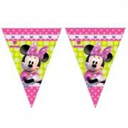 1 Ad Minnie Mouse İyi Ki Doğdun Yazılı Konsept 1.9m Parti Flaması