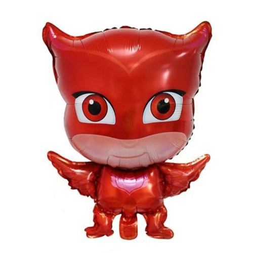 1 Ad Pijamaskeliler Baykuş Kız Folyo Balon, Pija Masks Uçan Balon