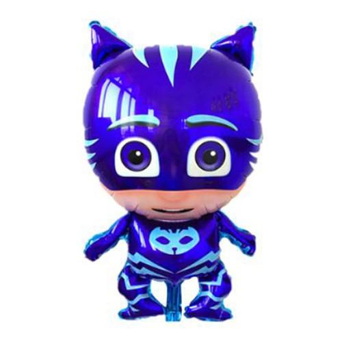 1 Ad Pijamaskeliler Kedi Çocuk Folyo Balon, Pija Masks Uçan Balon