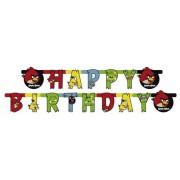 1 Adet 1.8 m Angry Birds Happy Birthday Yazı, Asmalı Duvar Süsü