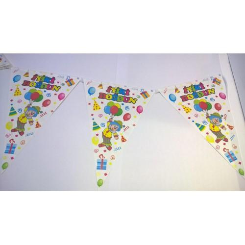 1 Adet 10 Bayraklı İyiki Doğdun Flama Doğum Günü Parti 2mt