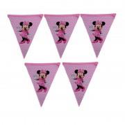 1 Adet 10 Bayraklı Minnie Mouse Flama Kız Parti  Doğum Günü  Flaması Ucuz 2mt