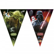 1 Adet 10 Bayraklı Star Wars Flama Siyah Erkek Doğum Günü Parti.