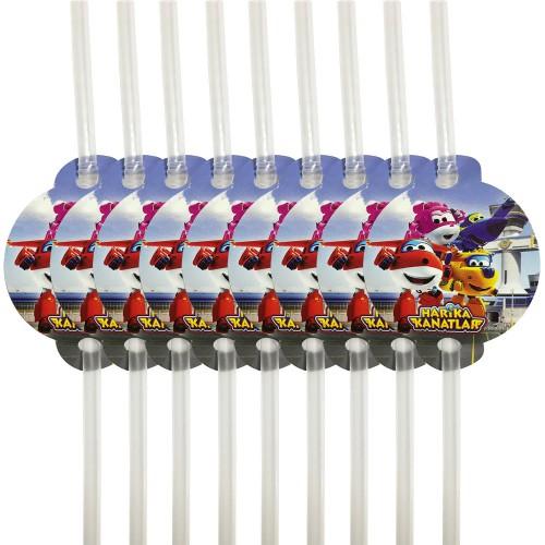 1 Adet 10lu Harika Kanatlar Parti Pipeti Super Wings Pipet