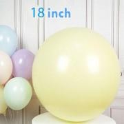 1 Adet 18inc Soft Sarı Makaron Balon, 45cm Pastel Parti Balonu