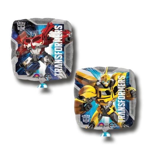 1 Adet 2 Taraflı Transformers Konsept Metalik Folyo Balon