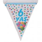 1 Adet 6 Yaş Bayrak Flama Mavi Erkek 2. 2 Metre Doğum Günü