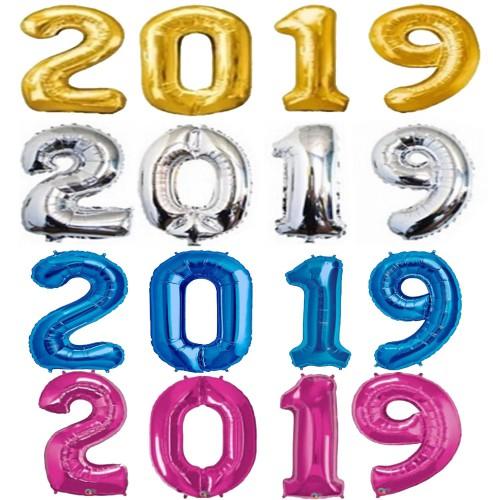 2020 Balon - Yılbaşı Balonu - Yılbaşı Süsü Balon 1mt Folyo Balon