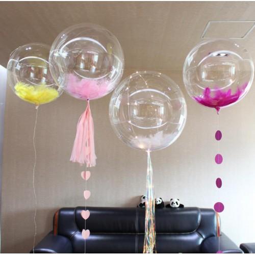 1 Adet 24inc Şeffaf Büyük Balon TransParan Cam Gibi Şeffaf Balon