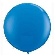 1 Adet 27inç 68 cm Mavi Jumbo Büyük Balon İnik