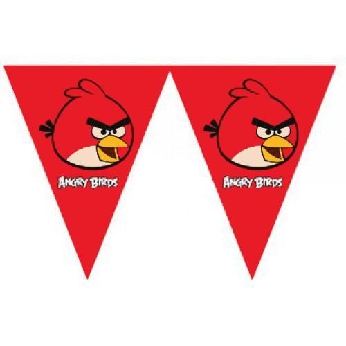 1 Adet 2m Angry Birds Bayrak Flama, Asmalı Duvar Süslemesi