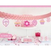 1 Adet 3 Yaş Pembe Doğum Günü Parti Duvar Süsü