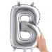 1 Adet 35cm Gümüş Gri Küçük Harf Folyo İsim Balonu