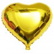1 Adet 45 cm Altın Sarısı (Gold) Kalp Folyo Balon