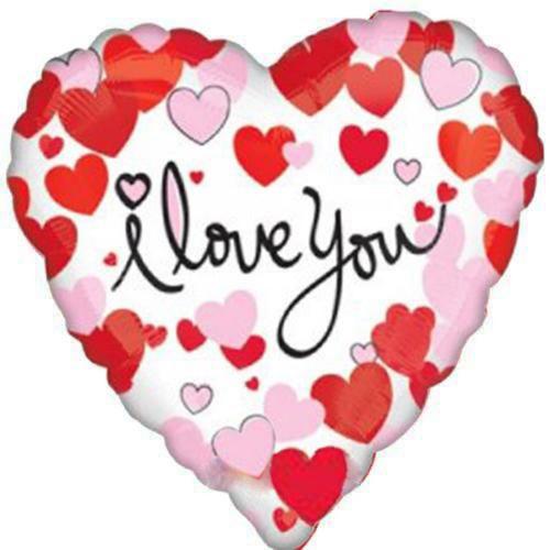 1 Adet 45cm I Love You Baskılı Kalp Folyo Balyon