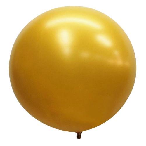 1 Adet 45inç 114 cm Altın Sarısı Jumbo Büyük Balon İnik Gold Dore