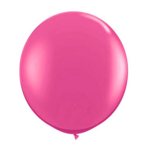 1 Adet 45inç 114 cm Fuşya Jumbo Büyük Balon İnik