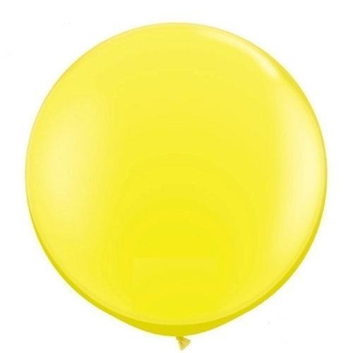 1 Adet 45inç 114 cm Sarı Jumbo Büyük Balon İnik