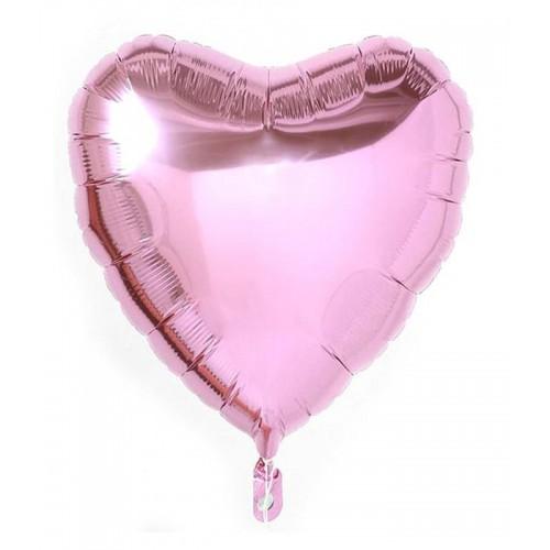 1 Adet 60 cm Açık Pembe Kalpli Folyo Balon Helyumla Uçan