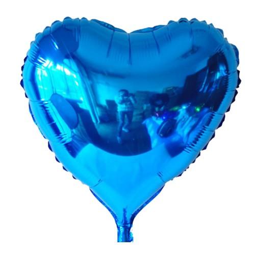 1 Adet 45 cm Koyu Mavi Kalp Şeklinde Folyo Balon, Helyumla Uçan