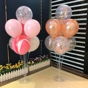 1 Adet 7li Balon ve Şeffaf Doğum Günü Ayaklı Balon Süsleme Standı