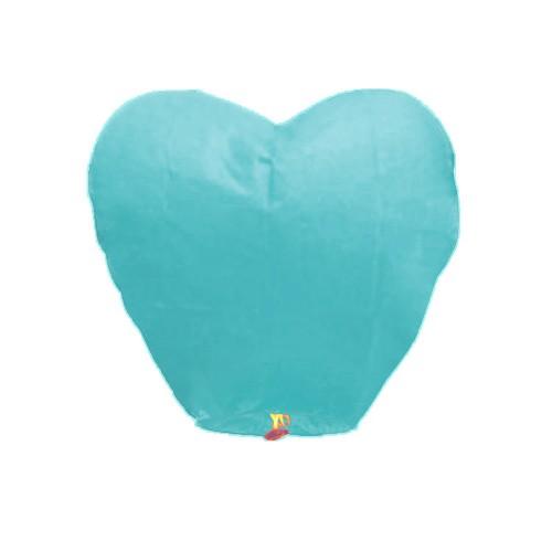 1 adet Açık Mavi Kalpli Büyük Uçan Dilek Çin Feneri Balonu