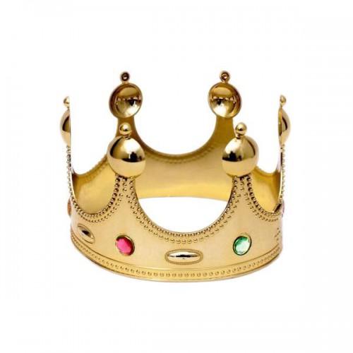 1 Adet Altın Gold Kral Tacı Erkek Parti Malzemesi