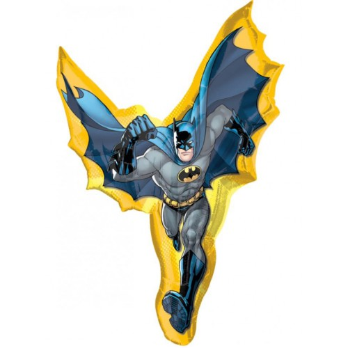 1 Adet Batman Folyo Balon, Batman Şeklinde Balon, Helyumla Ucan