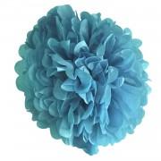 1 Adet Açık Mavi Ponpon Gramafon Çiçek Kağıt Doğum Günü Parti Süs