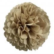 1 Adet Bej Ponpon Gramafon Çiçek Kağıt Doğum Günü Parti Süsü
