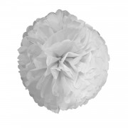 1 Adet Beyaz Ponpon Gramafon Çiçek Kağıt Doğum Günü Parti Süsü