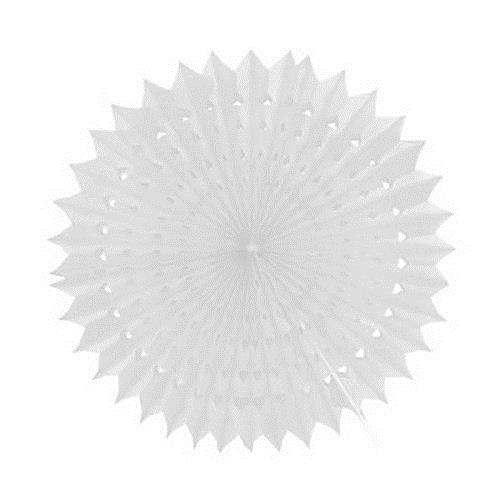 1 Adet Beyaz Yelpaze Şeklinde Ponpon Süs 45cm