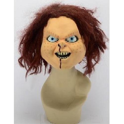 1 Adet Chucky (Çaki) Et Maske İlginç Halloween Korku Maskesi