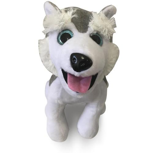 1 Adet Çocuğa Beyaz Hediyelik Sibirya Kurdu, Husky Köpek Peluş