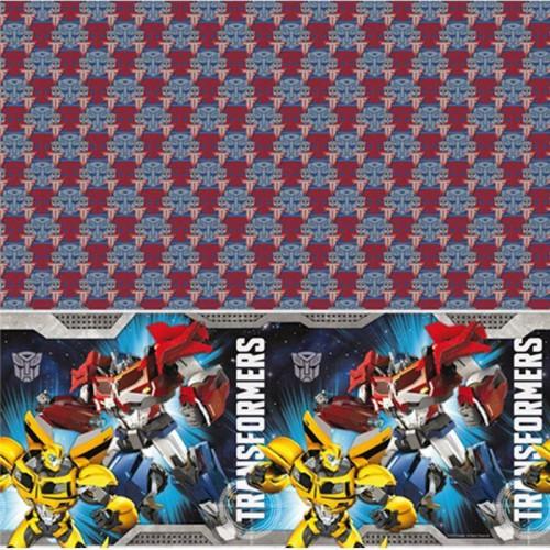 1 Adet Erkek Çocuk Transformers Plastik Masa Örtüsü (180cmx120cm)