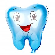 1 Adet Erkek Mavi Diş Şeklinde Folyo Balon, İlk Diş Buğdayı Balonu