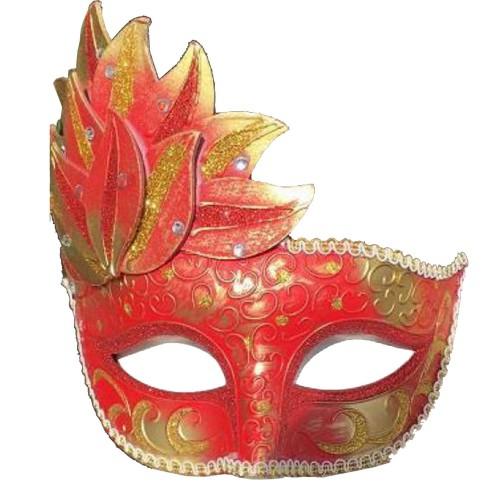 1 Adet Gold-Kırmızı Göz, Yüz Maskesi Kadın Maskeli Balo, Venedik