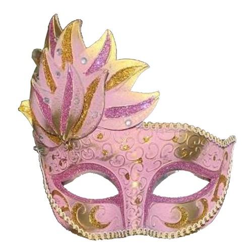 1 Adet Gold-Pembe Göz, Yüz Maskesi Kadın Maskeli Balo Konsepti