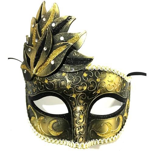 1 Adet Gold-Siyah Göz, Yüz Maskesi Kadın Maskeli Balo, Venedik