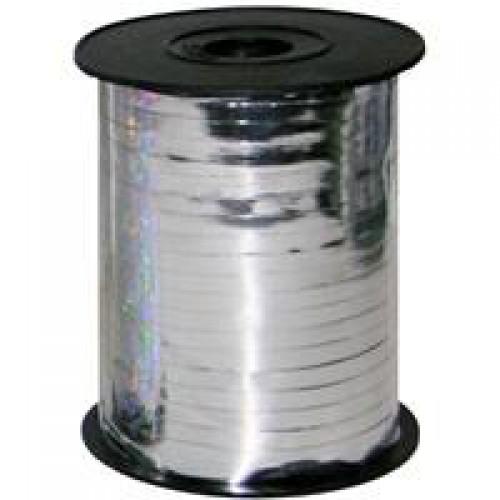 1 Adet Gümüş (Gri) Balon İpi Gümüş Parlak Rafya 8mmx200m Balon Ve Süsleme Rabant